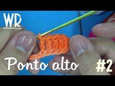 4 Pontos de Crochê Passo a Passo Para Iniciantes | Revista Artesanato Paracord, Arm Warmers, Crochet Necklace, Crochet Patterns, Make It Yourself, Sewing, Knitting, Blog, Diy