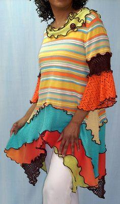 Orange & Turquoise Tunic by brendaabdullah,