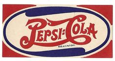 Vintage Pepsi Logo   Pepsi Cola Vintage Paper Label 1950s by thecollectiblechest