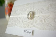 Lace wedding stationery by Slater Spark Wedding Invitations #wedding