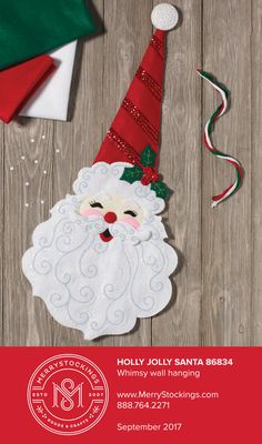 Ho Ho Ho Santa! It's Christmas time (a little early). September 2017 this kit can be purchased at MerryStockings. Made by Bucilla, all components are included to make this cute Santa!