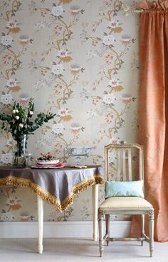 wallpaper for dining room? Cole & Son India Paper