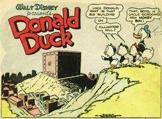 Sightseeing Dagobert Duck, Big Building, Donald Duck, Presents, Comic Books, Comics, Gifts, Favors, Cartoons