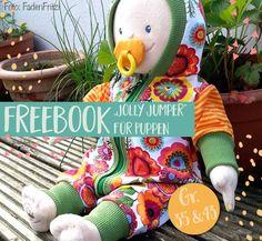 Jolly Jumper Freebook Nr.2: Puppenanzug selber nähen!