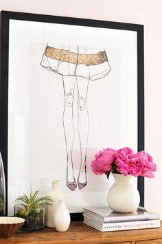 framed fashion sketches - adorable