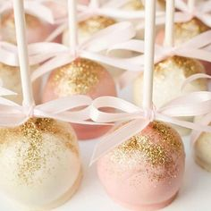 Sparkling cake pops make for the picture perfect bite. Photo by Bella Rose…