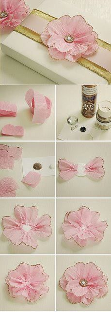Great Gift wrapping bow....made using crepe paper