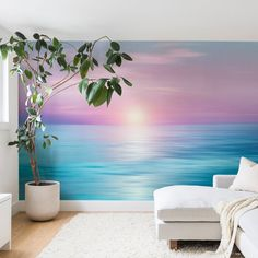 368X254cm TREASURE ISLAND Photo Wallpaper Wall Mural TROPICAL SUNSET PALMS