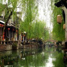 water canals in zhouzhuang, china