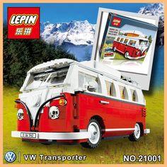 2016 Nueva LEPIN 21001 1354 Unids Creador Volkswagen T1 Camper Van Modelo Kits de Construccion Ladrillos Juguetes
