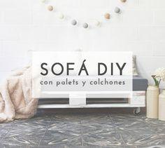 Crea un original sofá con palets de madera