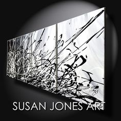 Large format painting multi canvas ready to hang by susanjonesart, €169.00