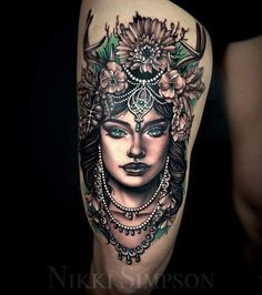 """When a client says """"do whatever you want"""" creates this It took her 6 hours to еще via Arm Tattoos Color, Mandala Arm Tattoos, Face Tattoos, Color Tattoo, Sleeve Tattoos, Owl Tattoos, Tatoos, Gem Tattoo, Piercing Tattoo"""