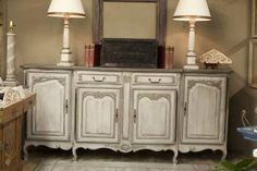 Re-painted French Buffet in Shades of Greige