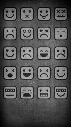Emoticons icon frame iPhone 5 wallpaper - Go to website for iPhone 4 version
