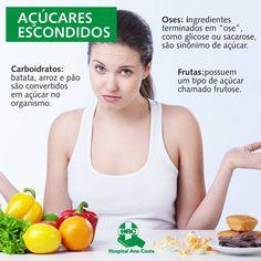 Ele está mesmo onde você nem imagina. Saiba onde encontrar açúcar na sua alimentação, um vilão muitas vezes escondido. #HAC #HospitalAnaCosta #Saúde #Alimentação #Açúcar #Fit #Dieta #BemEstar #Nutrição #Nutri