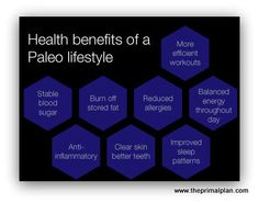 Health benefits from a paleo lifestyle  www.primalorganicmiami.com paleo diet delivery #crossfit #paleo