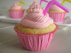 Pink Lemonade Cupcakes  Had good reviews from others that ate it (if you like that kind of thing).
