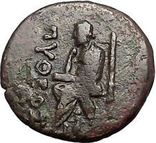 KOLOPHON in IONIA 1CenBC Poet Homer of ODYSSEY Apollo Ancient Greek Coin i55360