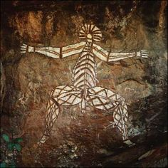 """X-ray style"" figure ,Rock painting, ca. 6000 B.C.E., Kakadu National Park, Northern Territory, Australia"