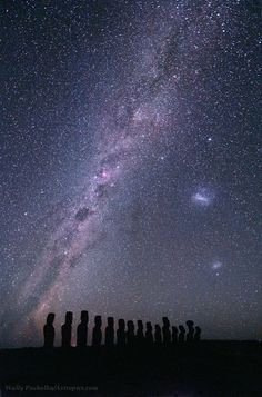Milky Way above Easter Island