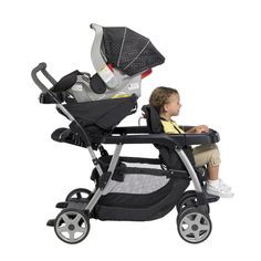 Graco Ready2Grow Stand and Ride Stroller    Features:-    - Graco Ready2Grow  - Accepts two Graco® Infant Car Seats  - 12 riding options  - Face Time™ rear seat  - Removable rear seat  Multi-postion, reclining front seat lies flat  One-hand, standing fold