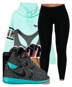 """""""○"""" by ladajsha ❤ liked on Polyvore featuring Victoria's Secret PINK, Victoria's Secret, Rebecca Minkoff and NIKE"""