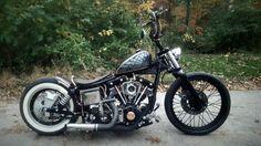 "78 fxs. custom garage built  shovelhead bobber. total cost including purchase of bike and 88"" motor build... - $6000!"