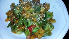 Stirfry Vegetables With Flavoured Tofu