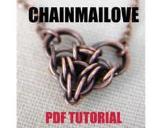 Chainmailove unit, chainmaille heart tutorial, pdf instruction