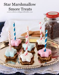 Star Marshmallow Smore Treats by www.whatscookinwithruthie.com