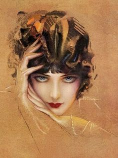 Rolf Armstrong. His unfinished pastel drawings are my favorite of his gorgeous work. He is considered the first pinup artist.