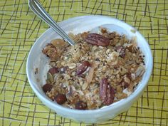 Sugar-Free Low-Carb Granola with flax