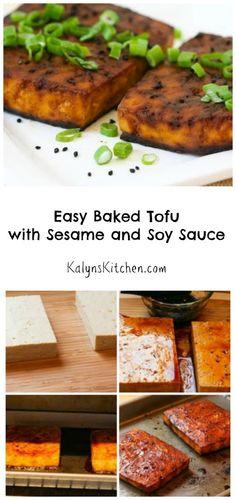 Easy Baked Tofu with Sesame and Soy Sauce - extra firm tofu, Tamari ...