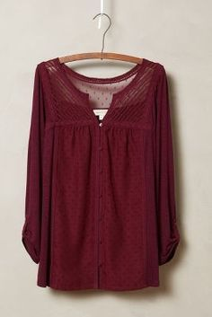 Meadow Rue Tavia Peasant Top #anthrofave