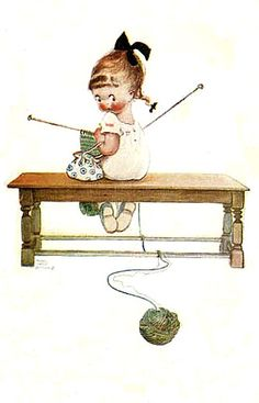 vintage knitting image