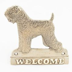 Black Russian Terrier dog welcome hanging by ArtDogshopcenter