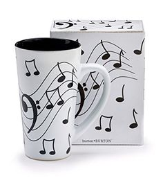 Burton  Burton Musical Note Jazz Ceramic CoffeeTea Travel Mug Bass Clef 16 oz * Details can be found by clicking on the image.
