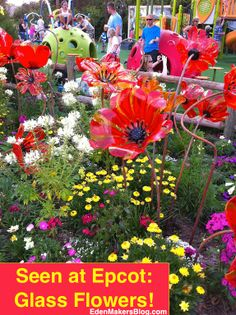 glass-poppies-in-garden-bed-epcot
