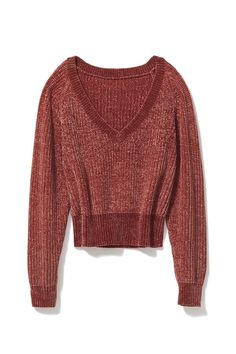 b3aa8ac72ae7d9 Slide View  5  UO Cozy Chenille V-Neck Sweater V Neck