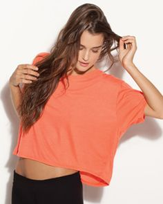 Feel the flow with this sexy Boxy tee that'll set you apart from the rest. It's cropped tank, made of 3.7-ounce, 30-single flowy 65% polyester/35% viscose, which keeps you comfy with style.