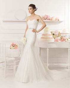 Aire Barcelona 2015 Bridal Collection - Alan - Available at Stella's Bridal & Evening Collections
