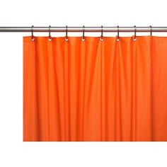 Carnation Home Hotel Collection, 8 Gauge Vinyl Shower Curtain Liner w/ Metal Grommets in Orange Hotel Shower Curtain, Vinyl Shower Curtains, College Dorm Bathroom, Bathroom Ensembles, How To Clean Metal, Mold And Mildew, House Styles, Orange, Bears