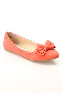Coral Ballet Flats $15