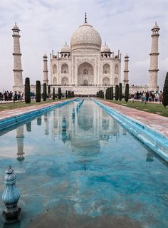 Taj Mahal, Agra, Uttar Pradesh, India. Go to www.YourTravelVideos.com or just click on photo for home videos and much more on sites like this.