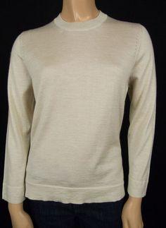 MARLOWE Beige Top M 70% Cashmere 30% Silk Fine Knit Summer Lightweight Sweater