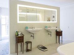 Plan de salle de bain : moyenne salle de bain 6.3m2. Un pan de mur ...