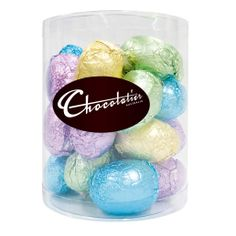 EAS249 -  The Chocolatier 15G Foiled Eggs Assorted Colours (Full Carton) contains 150 units per box with a weight of 15g.