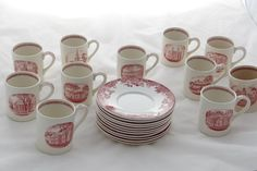 Another picture for my friends who travel in the brainy stratosphere. This set of demitasse cups and saucers commemorates the 300th anniversary of Harvard University. Watch http://stores.ebay.com/Gully-Farm-Consignment?_rdc=1 for the listings.