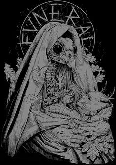 Rafal wechterowicz on behance macabre artwork macabre art, a Art And Illustration, Arte Punk, Death Art, Satanic Art, Arte Obscura, Macabre Art, Occult Art, Desenho Tattoo, Creepy Art